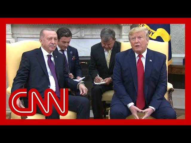 Trump praises Erdogan during White House visit