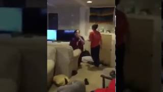 KID GETS SLAPPED WHEN HE TURNS OFF XBOX DURING FORTNITE BATTLE ROYALE