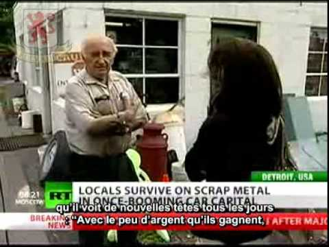 Detroit : capital of scrap - RT august 22 2011 (french sub)