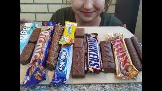 Сникерс, Баунти, Твикс, Несквик | CHOCOLATE CANDY SWEETS | eating show | 먹방