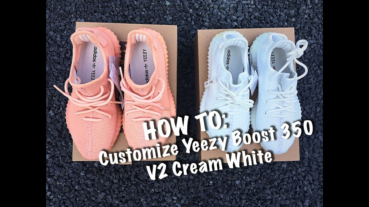 6eed50117 How To Customize Yeezy Boost 350 Cream White - Customs By BB - YouTube