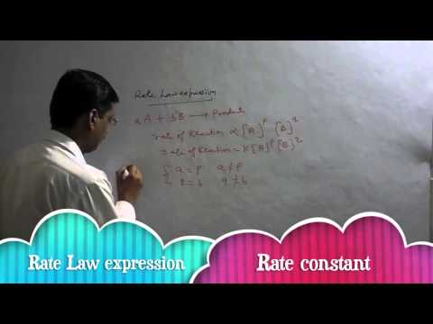Rate Law expression,Molecularity and oder of reaction in chemical kinetics in chemistry