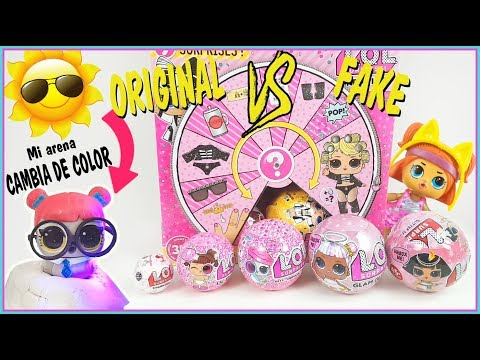 LOL SURPRISE * serie 4 LIL sisters * PETS arena cambia color *  GLAM Glitter. LOL Oringinal vs Falsa