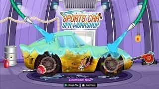 Kids Sports Car Wash Cleaning Garage