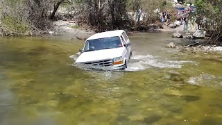 Azusa Canyon OHV Off Road, 03/24/2019.  1st Water crossing, San Gabriel Mountains.