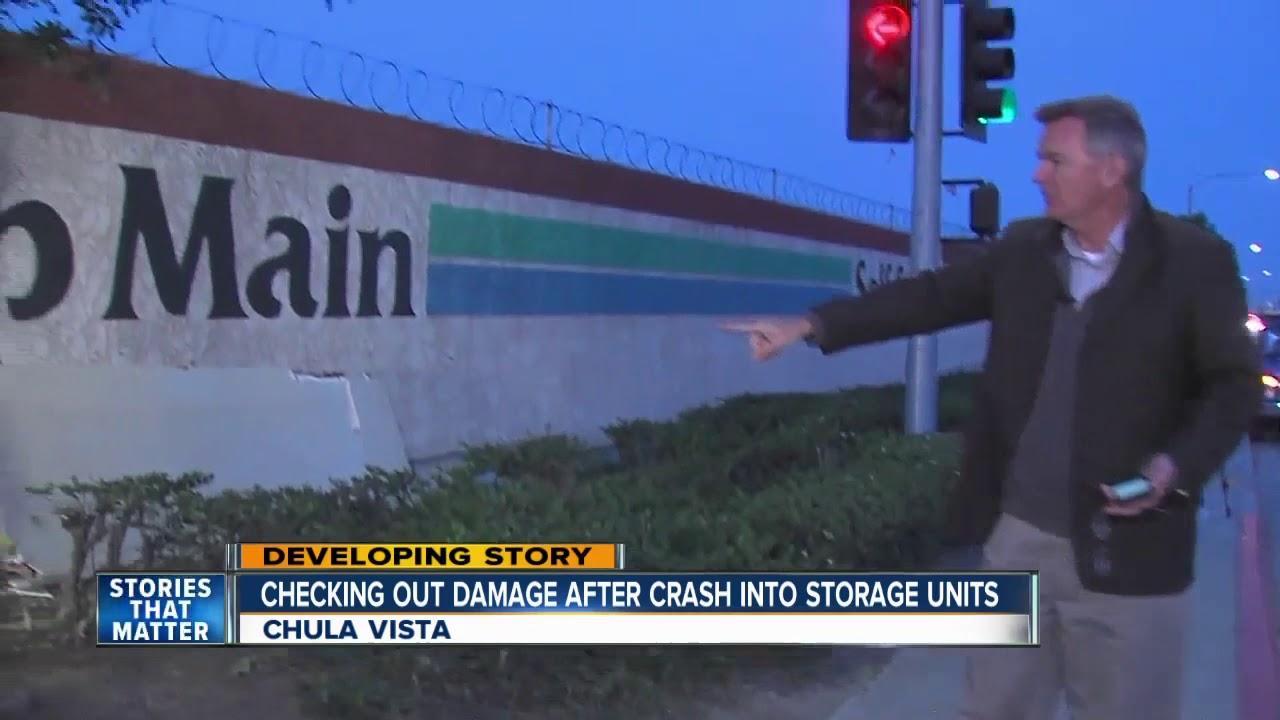 Car Smashes Through Chula Vista Storage Units