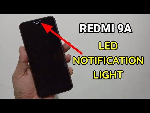 Redmi 9A : Enable LED Light For Notifications