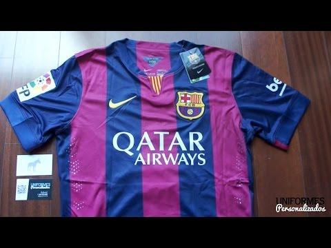 Barcelona 14-15 (Playera Authentic) Local La Liga BBVA. by Uniformes ... 0c38cfc969dc9