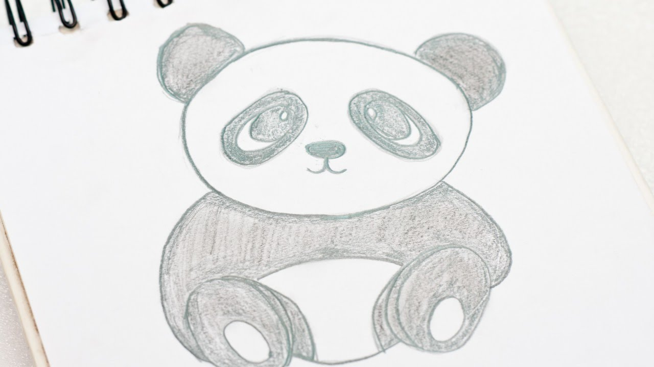 how to easily draw a cute cartoon baby panda diy diy tutorial