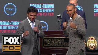 manny-pacquiao-vs-keith-thurman-press-conference-pbc-on-fox