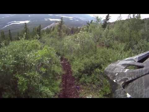 biking down grey mountain whitehorse yukon territory canada