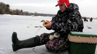 Рыбалка на Рыбинке: плотва перволёдка на безнасадку.