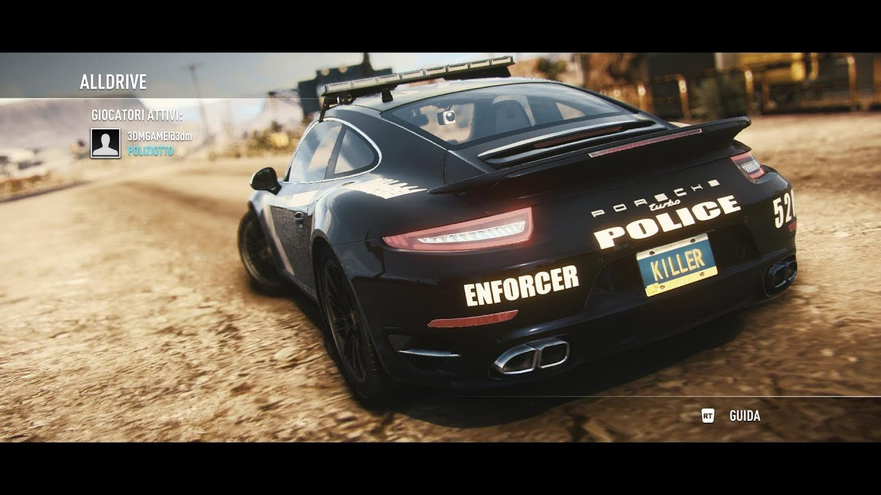 need for speed rivals ita porsche 911 turbo cops youtube. Black Bedroom Furniture Sets. Home Design Ideas