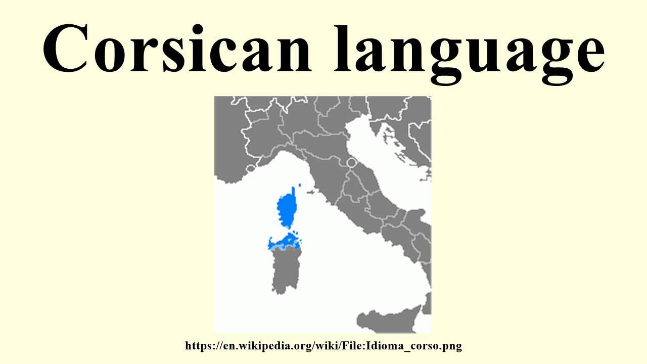 Korsische Sprache