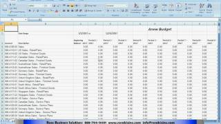 Budget Import & Export to Dynamics GP Using Excel