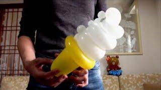 Вкусное мороженое! Из воздушного шарика??? Своими руками! (фигурки и поделки из шаров, аэродизайн) )
