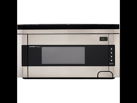 Sharp R 1514 1 2 Cubic Foot 1000 Watt Over The Range Microwave Stainless