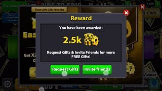 هدايا جديد ة في لعبة 8بال بول ~♤  Free Gift Reward Claim Now! Spin! Scratch! Coins