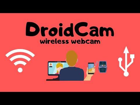 DroidCam   Use Mobile Camera as Webcam   Droidcam USB & WiFi Setup   How To Use Droidcam on PC