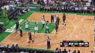 J.R. Smith Made  A Sweeping Motion To A Celtics Fan