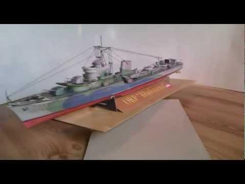 Papercraft ORP Blyskawica - paper model