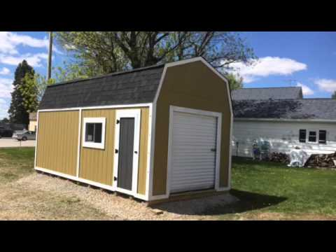 10 x 20 barn style shed youtube