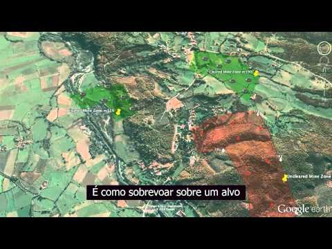 Google Earth - HALO Trust, encontrando minas de guerra em Kosovo (legendas em português)