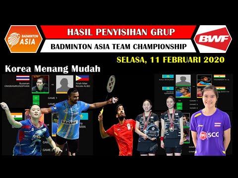 Hasil Badminton Asia Team Championship 2020 Hari Pertama ~ Korea Selatan Menang Mudah