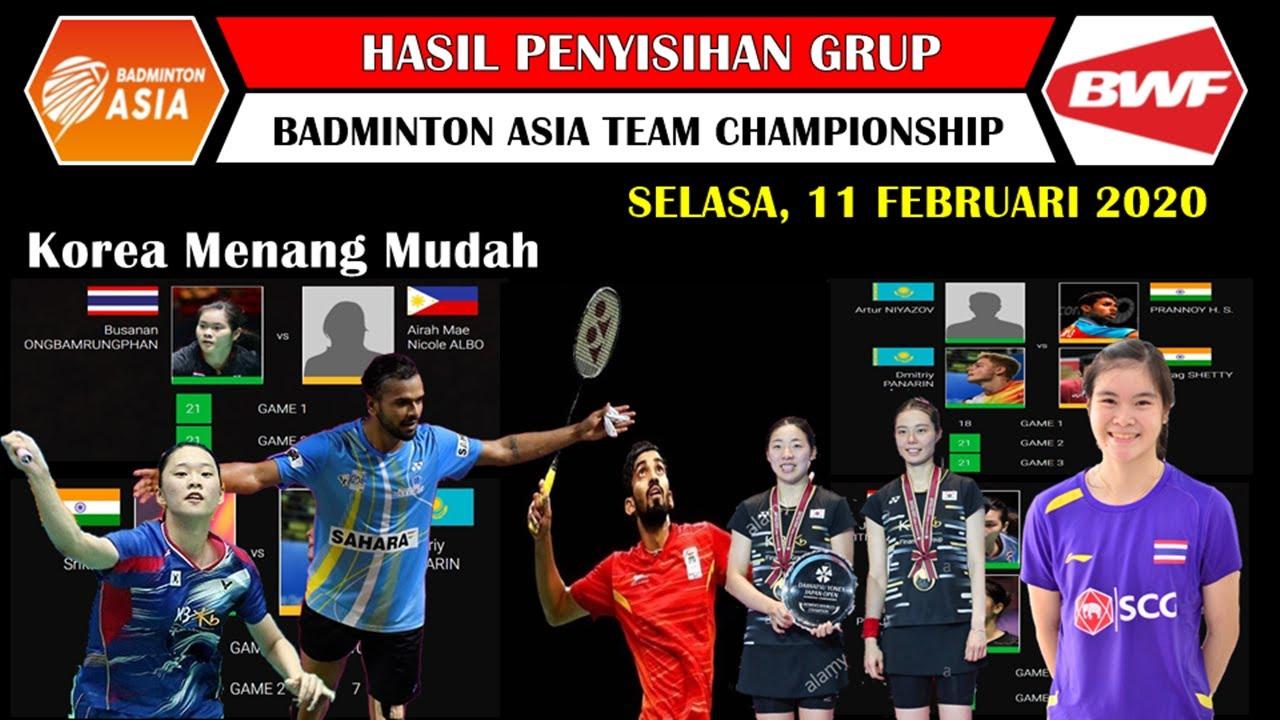 Hasil Badminton Asia Team Championship 2020 Hari Pertama