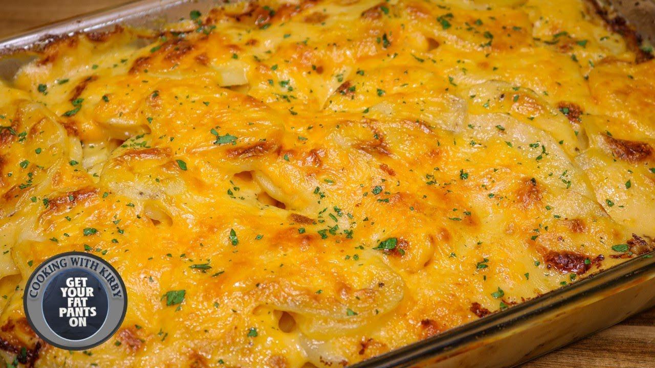 (84) Cheesy Scalloped Potatoes - Cheesy Potatoes - Easy Recipes - YouTube