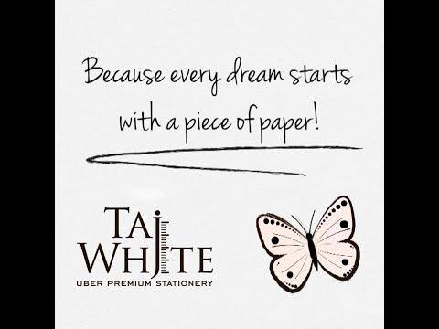TajWhite, uber premium stationery... love for paper