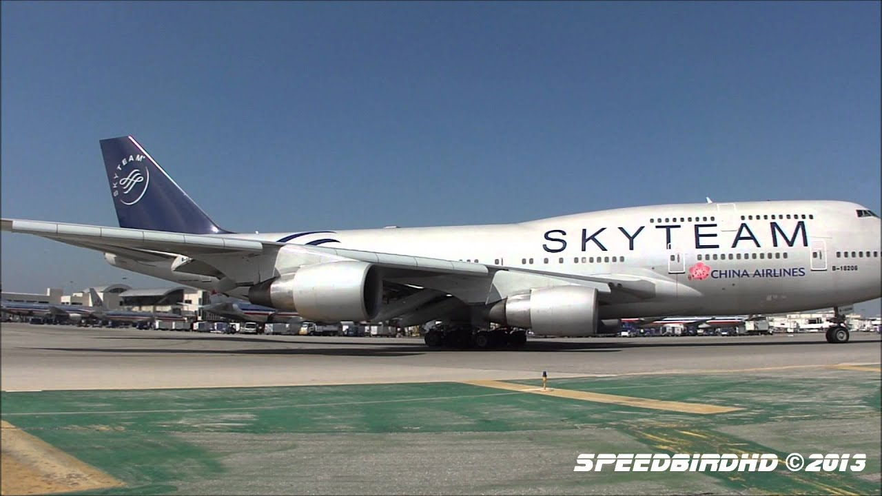 China Airlines Skyteam Livery Boeing 747 409 B 18206