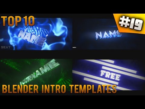 TOP 10 Blender intro templates #19 (Free download + music)