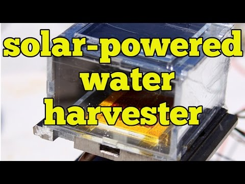 MOF Water Harvester - Pulling Drinkable Water out of dry Air using the power of the sun | QPT