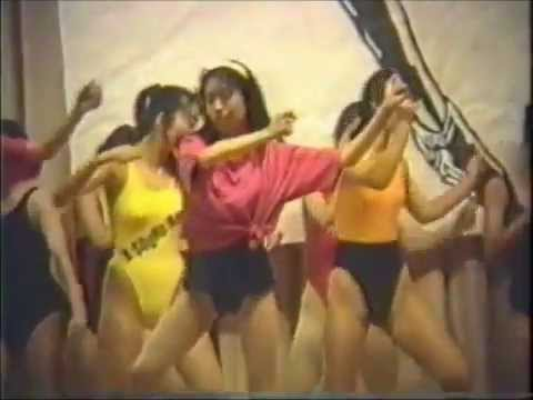 Aerobics High school girls Japan Leotard レオタード女子高生エアロビクス
