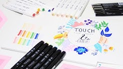 NEUE STIFTE | Review | Ich probiere TOUCH TWIN MARKER aus | FOXY DRAWS