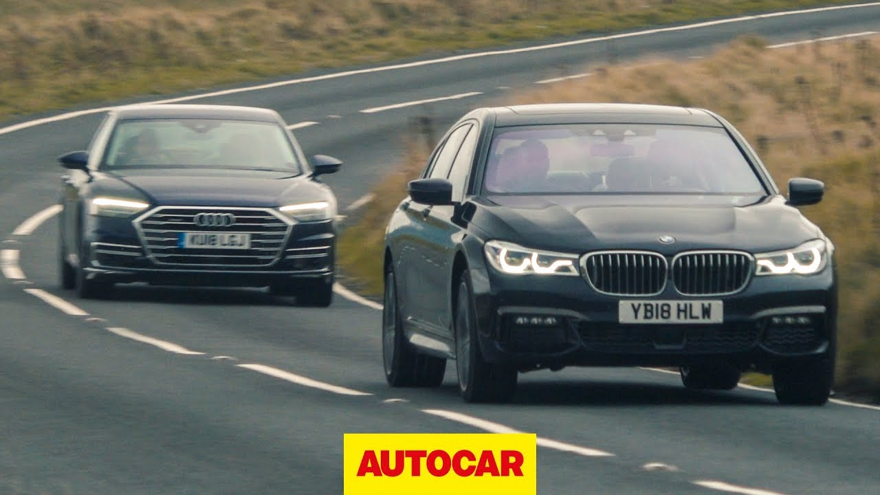 Audi A8 vs BMW 7 Series | What's the best luxury saloon to drive? | Autocar