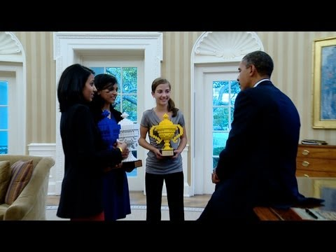 At the White House with the Google Global Science Fair Winners