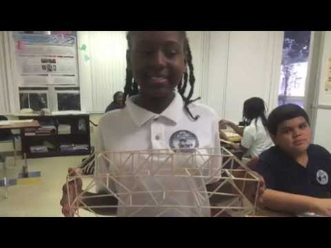 Bridges created by Palm Beach Maritime Academy 6th grade Marine Research students