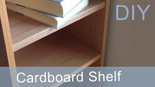 DIY How to make a Cardboard Shelf (1st way) HD (corrugated cardboard furniture)