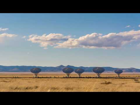 Time-lapse - Radio astronomy observatory Very Large Array (VLA) |  New Mexico