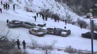 Авария на горке во Владивостоке машины в кучу