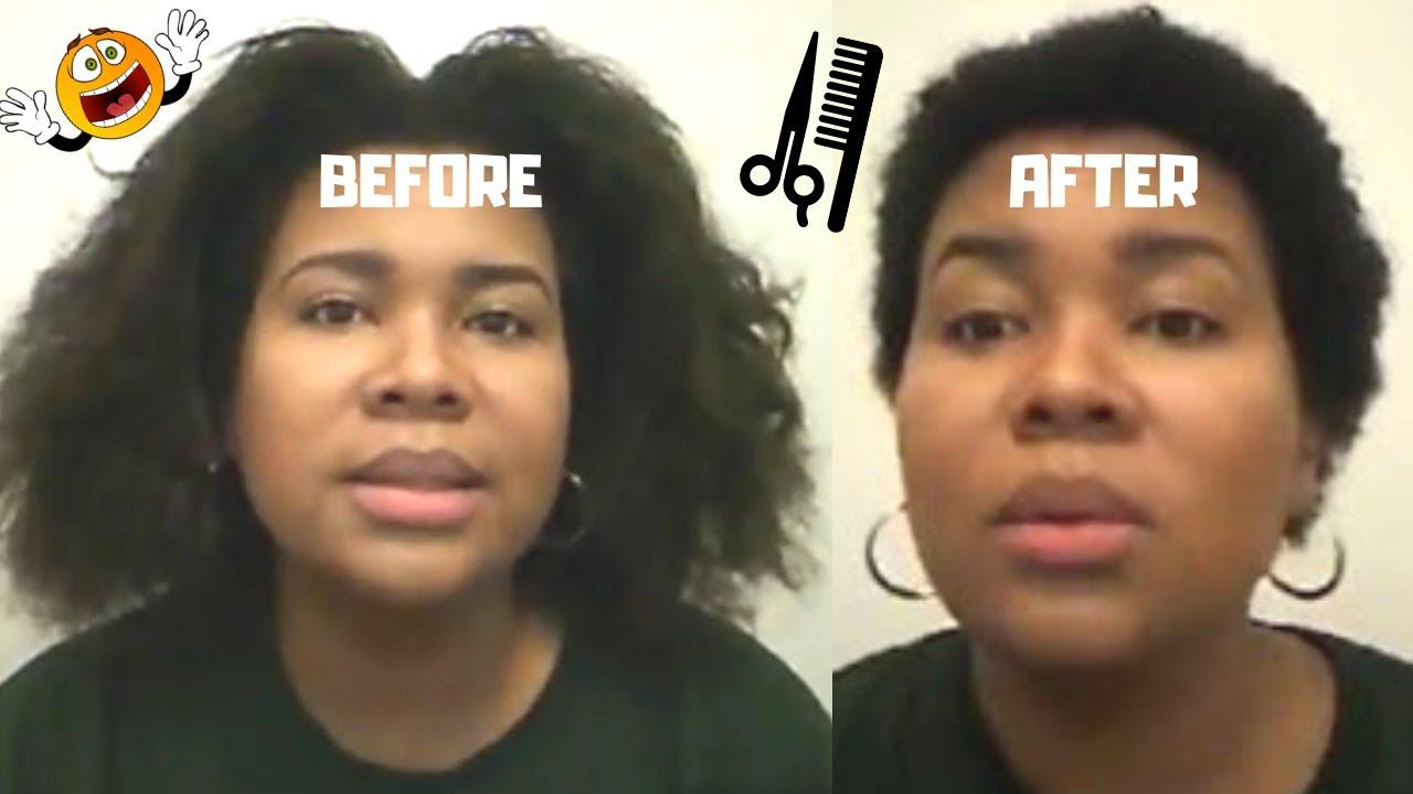 My Big Chop Round Face Belizean Way Lol Youtube