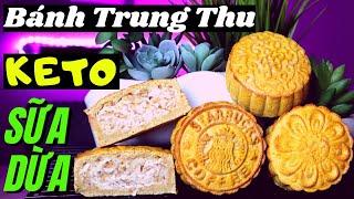 Ngon Tuyệt Đỉnh KETO Bánh Nướng Trung Thu Sữa Dừa-Traditional Baked MOONCAKE Coconut Sesame [Engsub]