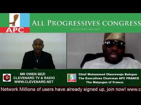 Chief Mohammed Olanrewaju Balogun The Executives Chairman APC FRANCE  The Maiyegun of France.