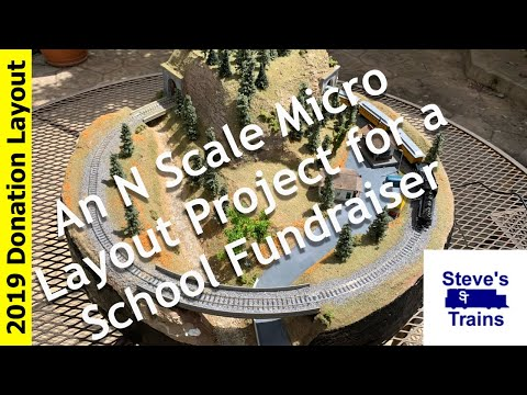 A Small N-Scale Micro Layout: Building the N Scale Donation Layout (Full Timelapse)