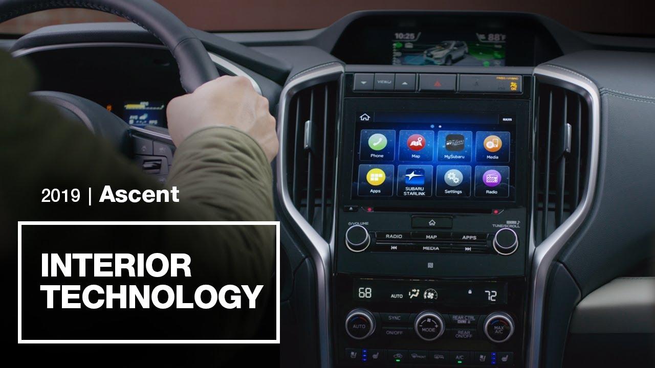 2019 Subaru Ascent Interior Technology