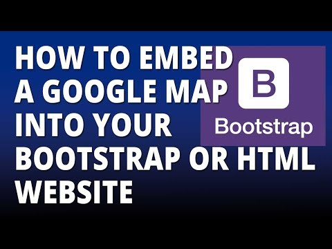 Bootstrap – Embed A Google Map Into Your HTML Or Bootstrap Website