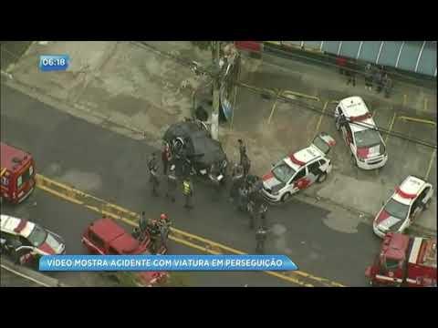 Perseguição policial acaba em acidente grave em São Paulo