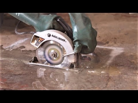 Cutting Concrete With A Circular Saw, Best Way To Cut Concrete Basement Floor